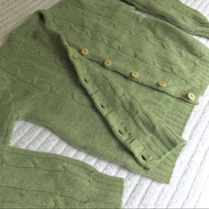 Vintage | Homemade Knit Cardigan in Green